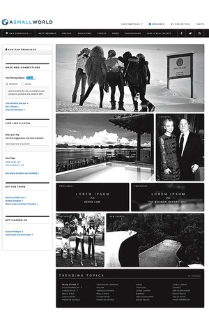The new look of their re-launched website.