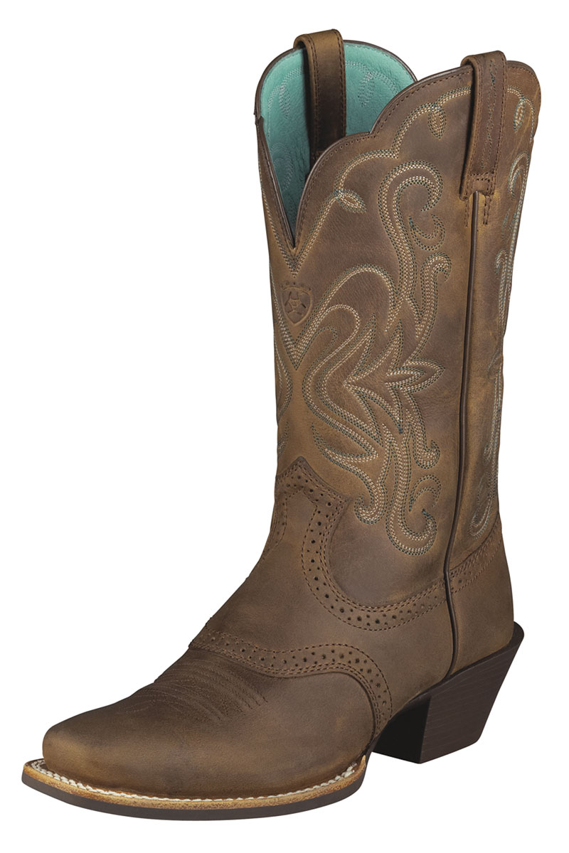 f8ceb2526ff HEAD WEST OUTFITTERS-Ariat Legend Distressed Brown Cowgirl Boots- 184.95