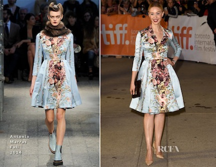 Sarah-Gadon-In-Antonio-Marras-Maps-To-The-Stars-Toronto-Film-Festival-Premiere