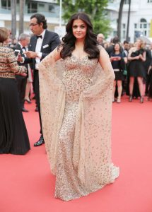 Actress Aishwarya Rai Bachchan poses for photographers upon arrival at the screening of the film Ma Loute (Slack Bay) at the 69th international film festival, Cannes, southern France, Friday, May 13, 2016. (AP Photo/Thibault Camus)