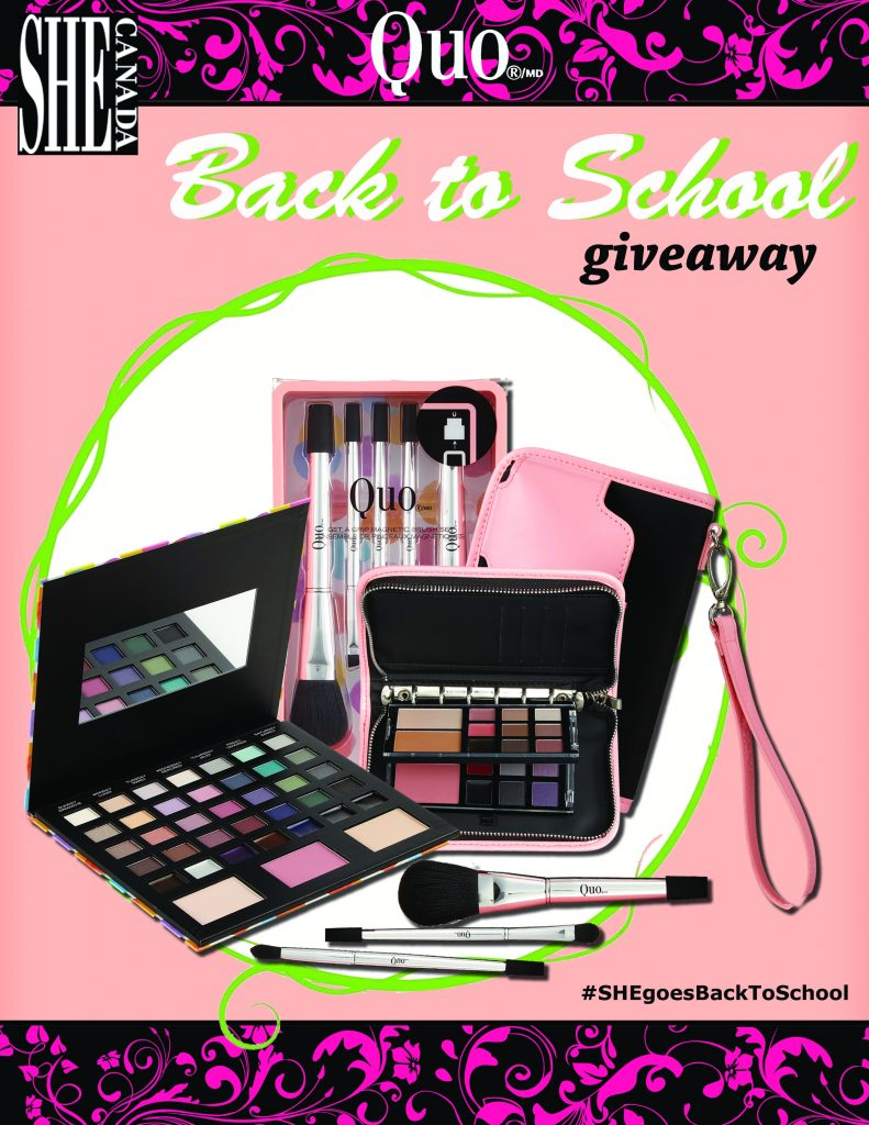 SHE Goes Back to School giveaway