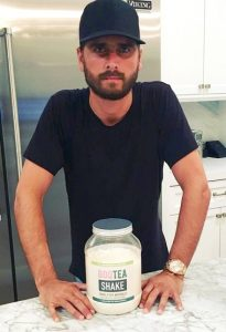Scott Disick endorses Bootea weightloss shake on Instagram. Photo courtesy of of Scott Disick, LordBeWithYou on Instagram