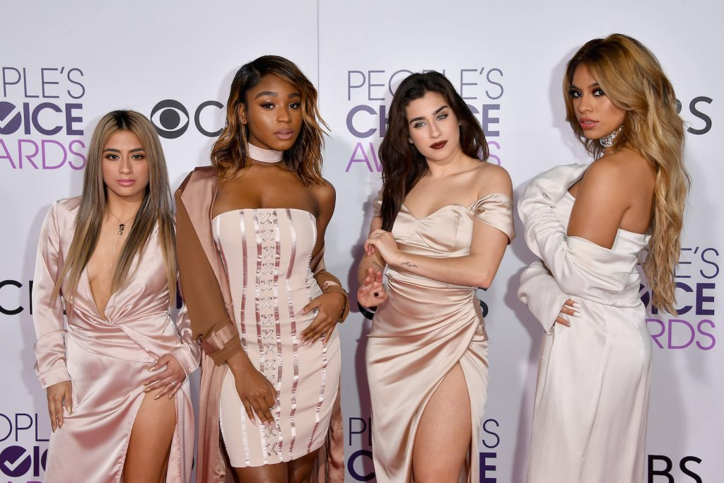 LOS ANGELES, CA - JANUARY 18: (L-R) Recording artists Ally Brooke, Normani Hamilton, Dinah Jane Hansen and Lauren Jauregui of Fifth Harmony attend the People's Choice Awards 2017 at Microsoft Theater on January 18, 2017 in Los Angeles, California. (Photo by Steve Granitz/WireImage)