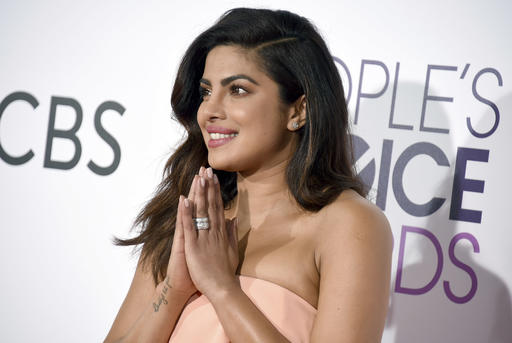 Priyanka Chopra arrives at the People's Choice Awards at the Microsoft Theater on Wednesday, Jan. 18, 2017, in Los Angeles. (Photo by Jordan Strauss/Invision/AP)